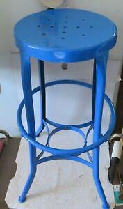 Vintage Industrial Chair Mid Century Modern Toledo Steel Drafting Work Station