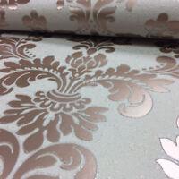 Damask Wallpaper Luxury Embossed Vinyl Glitter Quartz Fine Decor Rose Gold