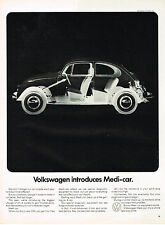 Vintage 1967 Magazine Ad Volkswagen Introduces Medi-car Get 4 Free Check Ups