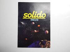 Catalogue Solido Voitures miniatures 1980