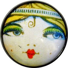"""Crystal Dome Button Roaring 20s Flapper Girl - """" Savanah """""""