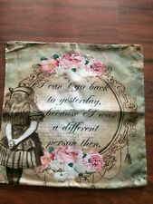 Alice in Wonderland  Linen/Cotton Square Pillow Cushion Cover.