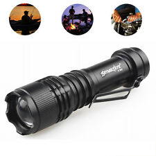 Zoom 6000LM CREE T6 3 Modes Tactical LED Flashlight Torch Super Bright AA/14500