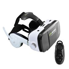 VR BOSS BOX 360° 3D Virtual Reality Glasses Movie Headset with Earphone Mic GAME