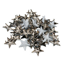 50Pcs Metal Star Studs Rivet Spike Screws for Leathercraft DIY Clothing Bags