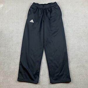 Adidas Men's Sweatpants Small Black Stretch Drawstring S 100% Polyester Athletic