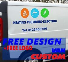 GAS HEATING ELECTRIC Van Sign-writing Self Adhesive Graphics Waterproof Stickers