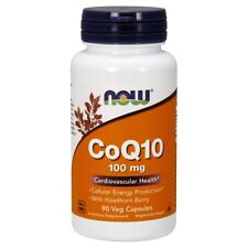 Now Foods Coq10 100Mg 90 Vegicaps Made in USA FREE SHIPPING