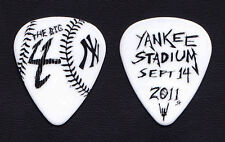 Metallica James Hetfield Big 4 White Yankee Stadium Guitar Pick - 2011 Tour