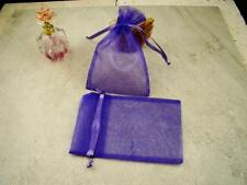 Organza Purple Jewelry Gift Bags 4x6 Lot of 5 With Draw String Ribbon Closure