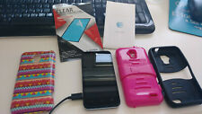 Zte Z998 Black At&T An 00004000 droid 4G Lte Smartphone Cell w/ 2 Cases & Charger Manual