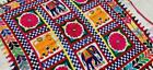 """36"""" x 33"""" Vintage Rabari Throw Embroidery Ethnic Tapestry Tribal Wall Hanging"""