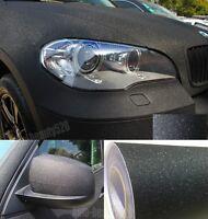 "12"" x 60"" - Hot Car Matte Sparkle Glitter Black Vinyl Wrap Sticker Film Decal"