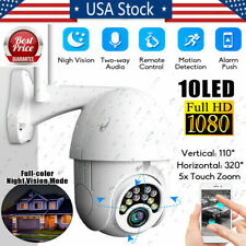 US 1080P HD IP CCTV Camera Waterproof Outdoor Wi-Fi PTZ Security Wireless IR Cam