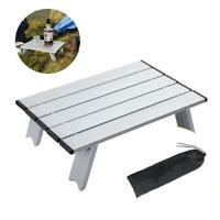 Lightweight Camping Table Aluminum Portable Folding Stand Compact Roll Up Tables