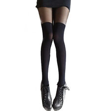 Mixed Colors Gipsy Mock Ribbed Over the Knee Tights Thigh High Pantyhose Worthy