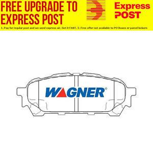 Wagner Brake Pad Set Rear DB1672WB fits Subaru Forester 2.0 (SF),2.5 AWD (SG)