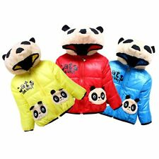 New Toddler Baby Boys Girls Panda Coat Kids Winter Warm Cotton Jacket Outerwear