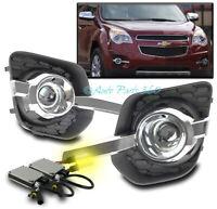 14-16 HONDA ODYSSEY BUMPER DRIVING FOG LIGHTS LAMPS CHROME W//10K XENON HID+BEZEL