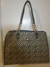 Tommy Hilfiger Black White (Tommy logo design)Tote Style Purse, Nwt Msrp $108.00