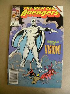Marvel 1989 WEST COAST AVENGERS #45 Key 1st appearance WHITE VISION mst wanda