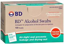 BD Alcohol Swabs 100 Each (Pack of 6)