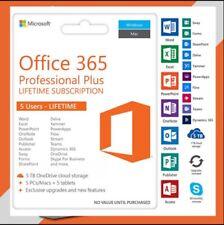 2020,MICROSOFT®OFFICE 365 Pro Plus,2020 License Account Mac Win Mobile 5 TB