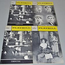 1962 - 1963 Playbills - Mixed Lot of 4 - Marketing Airline Pockets Attached