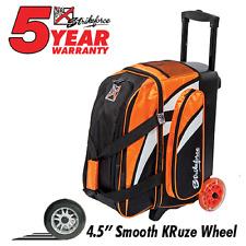 KR Cruiser Premium 2 Ball Roller Bowling Bag Color Orange/White