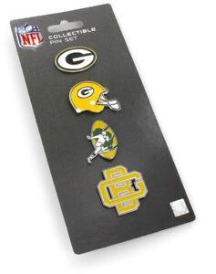 Green Bay Packers Logo Pin Set