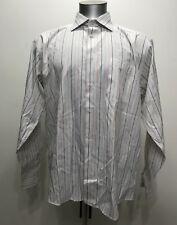 Hugo Boss White Striped Botton Down Men Long Sleeve Size XXL