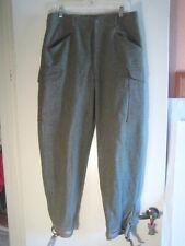 Swedish Ww2 Army Pants - Waist 32W 31Length - Dated 1940 - Leather straps