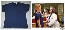 Screen Used GREY'S ANATOMY DOCTORS SCRUB TOP Blue Production Wardrobe S or XS