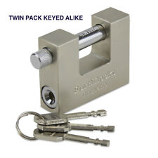 HEAVY DUTY STEEL CONTAINER PADLOCK 70MM WTH 3 KEYS (KEYED ALIKE) TWIN PACK