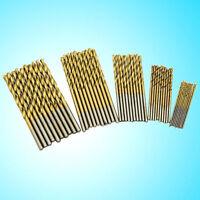 50Pcs  HSS High Speed Steel Drill Bit Set Tool Titanium Coated 1/1.5/2/2.5/3mm
