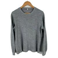 Uniqlo Womens Shirt Sweater Size Small Grey Knit Long Sleeve