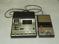 Alte Vintage Kassettenrekorder Konvolut: Sanyo M-138 A + Grundig CR 485a