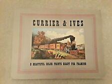 Vintage Currier & Ives Prints Set of 8 in Portfolio Cover 1946 CI-1114 (17-24)