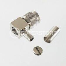 Mini UHF Male Right Angle Connector Crimp Attachment Coax RG55, RG58, RG55A
