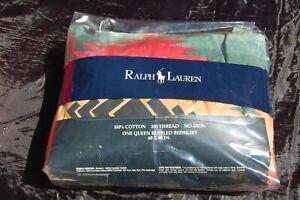 Ralph Lauren 1989 Canyon Bright Queen Ruffled bedskirt Southwestern AWESOME!