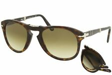 Persol Men's PO714 PO/714 24/51 Havana/Silver-Logo Folding Pilot Sunglasses 54mm