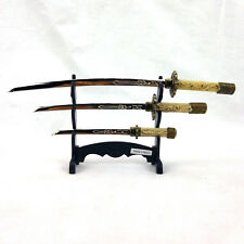 Denix Miniature Samurai Sword 3-pc set Letter Openers with stand 3026