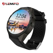 Lemfo KW88 Bluetooth Wireless SIM GPS Montre Intelligente For Android IOS Noir