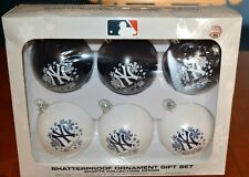 NEW YORK YANKEES RARE COLLECTION OF SHATTERPROOF ORNAMENTS GIFT SET OF 6