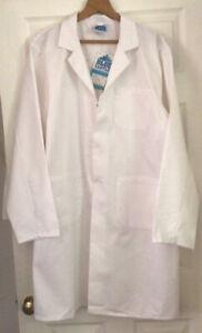 Blue Castle White Polycotton Work Coat - Lab - Medical -Warehouse Size XXL - NEW
