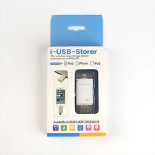 32GB i-USB-Storer OTG Flash Memory Stick Storage U Disk Gift For iPhone 5/6/7