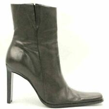 Diba Women High Heeled Ankle Booties Size US 7.5M Brown Leather
