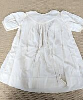 Antique c.1912 Baptism Christening Embroidered Lace Gown Baby Doll Dress