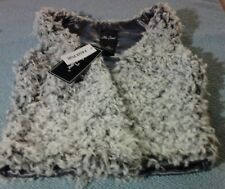 Me Jane Girls Medium Faux Fur Vest New with Tags