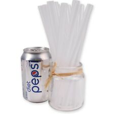 40x Clear Chunky Straws Large Extra Wide Milkshakes Slush Smoothies Kids Party